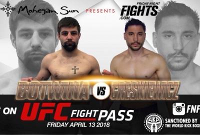 Bartosz Botwina vs Justin Greskiewicz na Friday Night Fights w Nowym Jorku