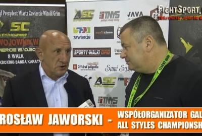 Mirosław Jaworski o gali All Style Championship 1 w Zawierciu! Wywiad!