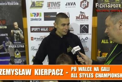 Przemysław Kierpacz po ASC 1 w Zawierciu: Walka była twarda a zawodnik duży! Wywiad!