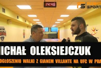 Michał Oleksiejczuk o Gianie Villante na UFC w Pradze, Mirku Oknińskim, Kołeckim, Molchanovie! Wywiad!