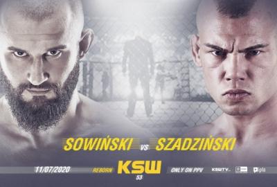 Pojedynek Artur Sowiński vs Gracjan Szadziński dodany do karty KSW 53