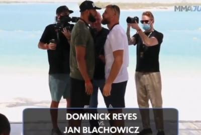 UFC 253: Jan Błachowicz i Dominick Reyes twarzą w twarz po raz pierwszy w Abu Dhabi! Video