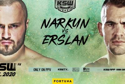 Tomasz Narkun zmierzy się z Ivanem Erslanem na KSW 56