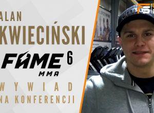 Alan Kwieciński przed FAME MMA 6