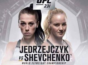 UFC 231 Jedrzejczyk vs Shevchenko