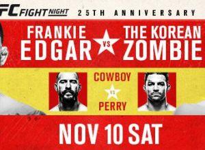 UFC Fight Night 139 Korean Zombie vs. Rodriguez
