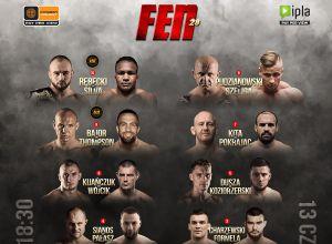FEN 28 Logos Fight Night fightcard