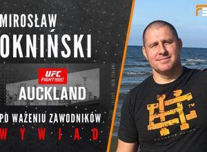 Mirosław Okniński po ważeniu przed UFC Auckland