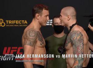Hermansson vs Vettori UFC Vegas 16