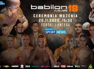 Babilon MMA 18 ważenie zawodników