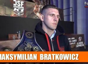Maksymlimian Bratkowicz przed walka na DSF 16