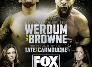 UFC on FOX 11 Werdum vs Browne