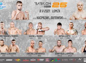 Babilon MMA 25 karta walk / fight card