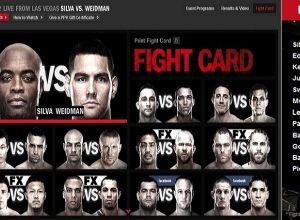 UFC 162 fightcard
