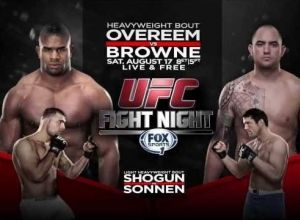 UFC Fight Night 26 Overeem vs Browne