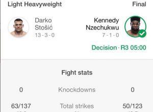Darko Stosic vs Kennedy Nzechukwu Statystyka