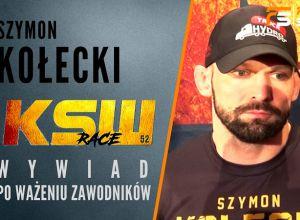 Szymon Kołecki przed walką na KSW 52