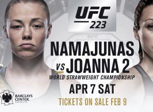 UFC 223 Rose Namajunas vs Joanna Jedrzejczyk