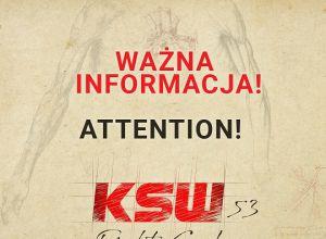 KSW 53 Komunikat