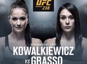 Kowalkiewicz vs Grasso UFC 238 poster