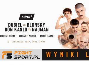 FAME MMA 8 - WYNIKI LIVE