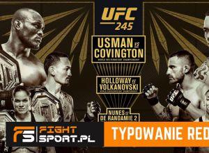 UFC 245 - typowanie redakcji