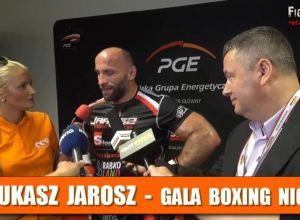 Łukasz Jarosz po walce na Narodowej Gali Boksu
