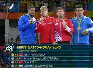 Medaliści Rio 2016 Zapasy 98 kg