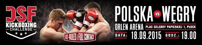 DSF Kickboxing Challenge Płock - Polska vs Węgry