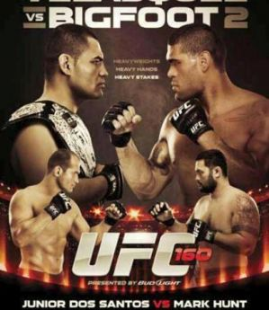 UFC 160: Velasquez vs Bigfoot 2: Las Vegas, 25/05/13