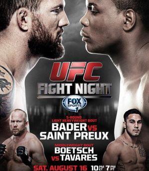 UFC Fight Night 47: Bader vs St.Preux: Bangor, 16/08/2014