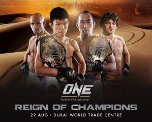 ONE FC 19: Reign of Champions: Dubai, 29/08/2014