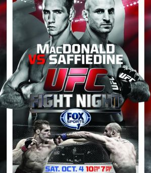 UFC Fight Night 54: MacDonald vs. Saffiedine: Halifax, 04/10/2014