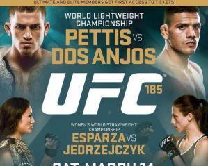 UFC 185: Pettis vs. dos Anjos: Dallas, 14/03/2015