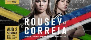 UFC 190: Rousey vs. Correia, Rio de Janeiro, 01/08/2015