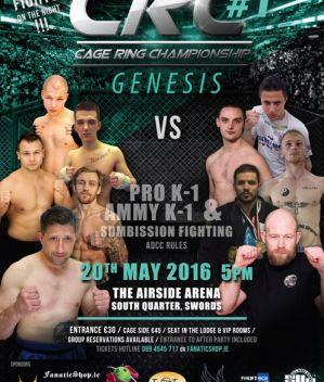 Cage Ring Championship 1: Dublin, 20/05/2016