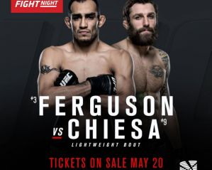 UFC Fight Night 91 Ferguson vs. Chiesa: Sioux Falls, 13/07/2016