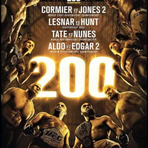UFC 200 Cormier vs Jones 2: Las Vegas, 9/07/2016