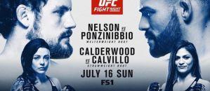 UFC Fight Night 113 Nelson vs. Ponzinibbio: Glasgow, 16/07/2017