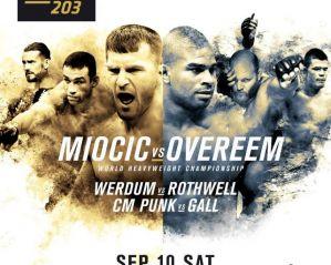 UFC 203 Miocic vs Overeem: Cleveland, 10/09/2016