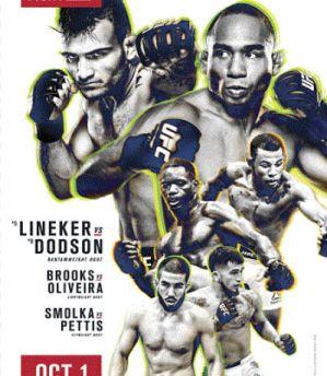 UFC Fight Night 96 Lineker vs. Dodson: Portland, 01/10/2016