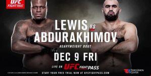 UFC Fight Night 102 Lewis vs Abdurakhimov: Albany, 09/12/2016