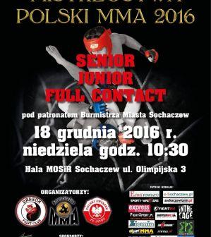 Zaproszenie na Mistrzostwa Polski MMA 2016 w Sochaczewie
