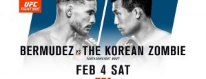 UFC Fight Night 104 Bermudez vs. Korean Zombie: Houston, 04/02/2017