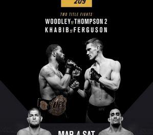 UFC 209 Woodley vs. Thompson 2: Paradise, 04/03/2017
