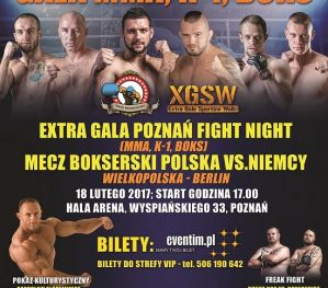 Extra Gala Poznań Fight Night: Poznań, 18/02/2017