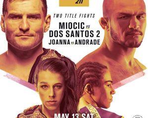 UFC 211 Miocic vs dos Santos 2: Dallas, 13/05/2017