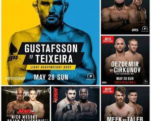 UFC Fight Night 109 Gustafsson vs. Teixeira: Stockholm, 28/05/2017