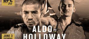 UFC 212 Aldo vs Holloway: Rio de Janeiro, 03/06/2017