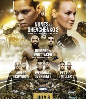 UFC 213 Nunes vs. Shevchenko 2: Las Vegas, 08/07/2017